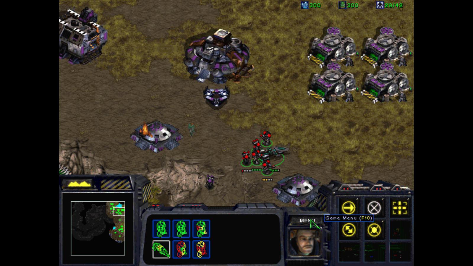 StarCraft. Ekran misji i interfejs gry.