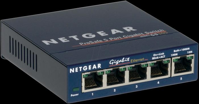 Przełącznik Netgear GS105 to 5-portowy, niezarządzalny przełącznik Gigabit Ethernet. W sieci wykorzystującej okablowanie umożliwia zwiększenie liczby portów Ethernet i łatwe podłączenie dodatkowych urządzeń.