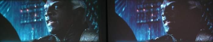 """Kadr z filmu """"Thor 2"""". Po lewej ViewSonic PX727-4K, po prawej BenQ W1700."""