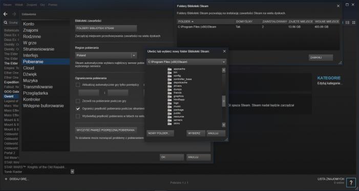 Steam. Nowy folder Steam.