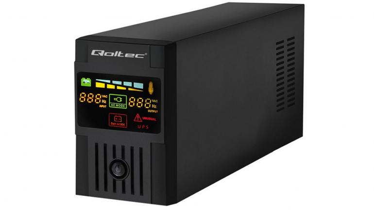 Qoltec Monolith Line-Interactive UPS LCD 1000