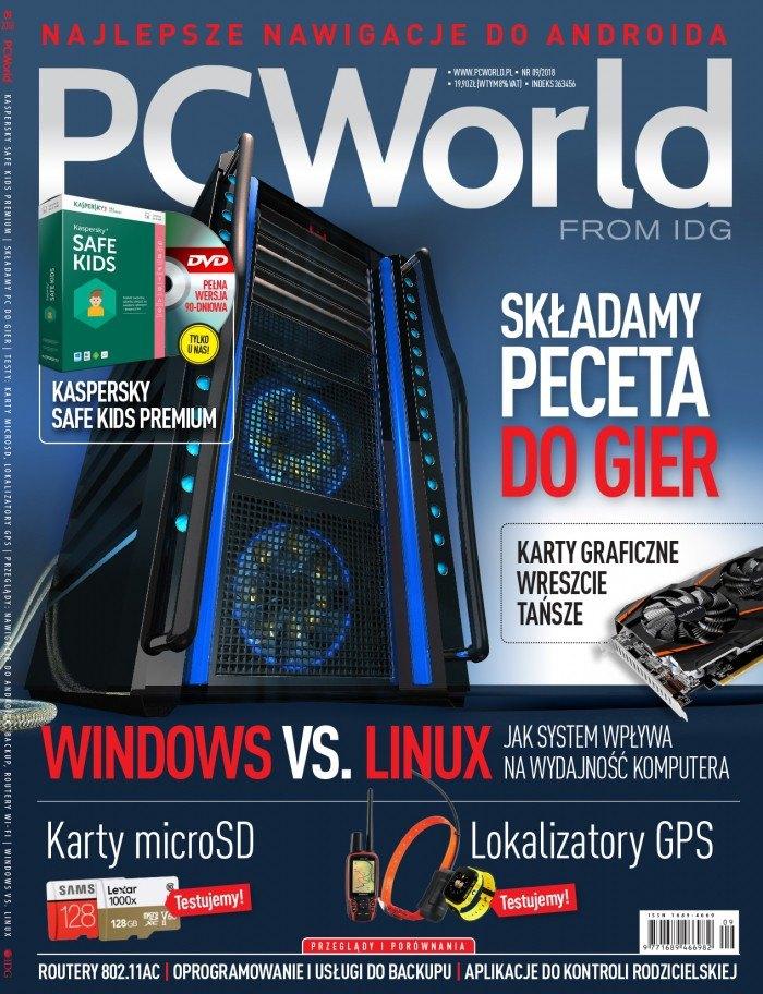 PC World 9/2018 w sprzedaży. Komputery dla gracza i Windows vs. Linux
