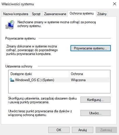 Znane jeszcze z Windows XP narzędzie Przywracanie systemu pozwala na zapisanie określonego punktu systemu, do którego będzie można powrócić np. w razie poważnej awarii Windows