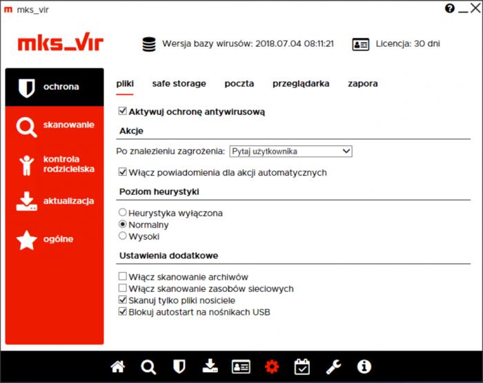 mks_vir Dom i Mała Firma - moduł Ochrona
