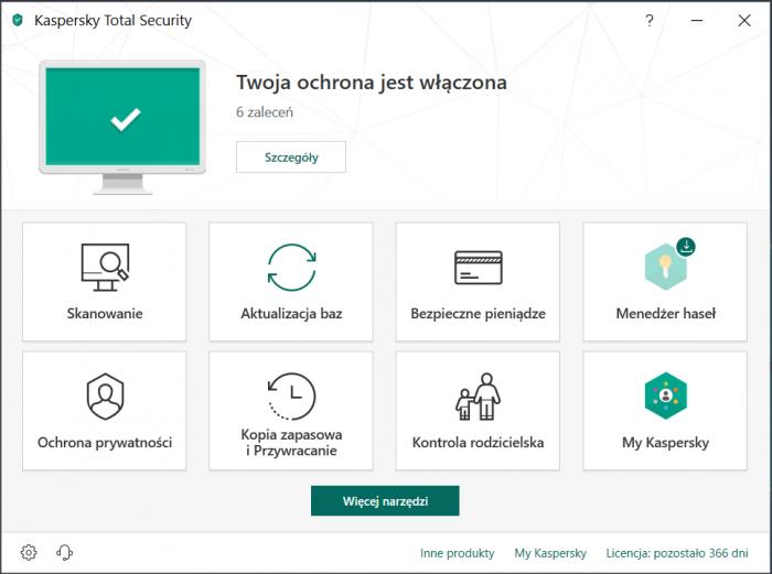 Kaspersky Total Security - funkcje