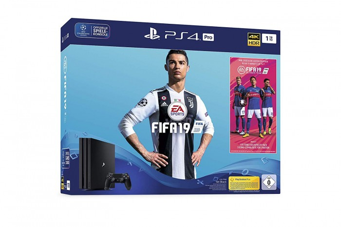 Konsola PlayStation 4 Pro + FIFA 19 + kontroler