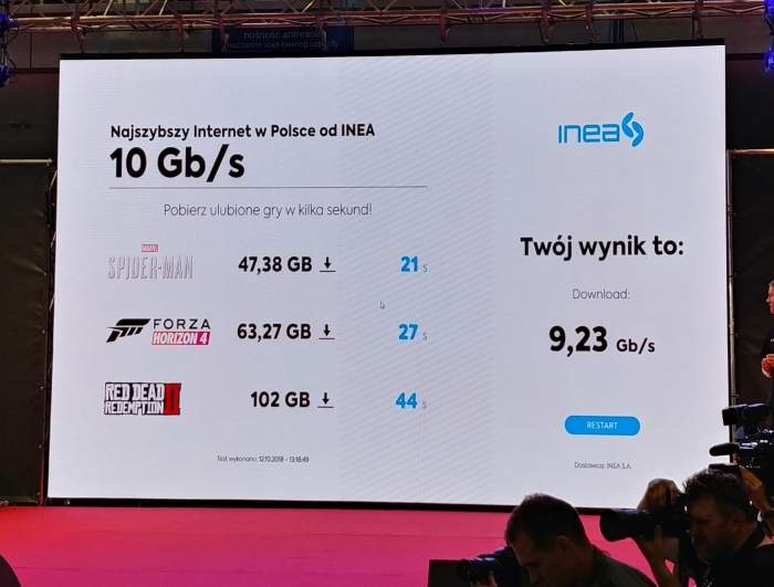 INEA wprowadza symetryczne łącze o prędkości do 10 Gb/s. Fot. Sebastian Górski