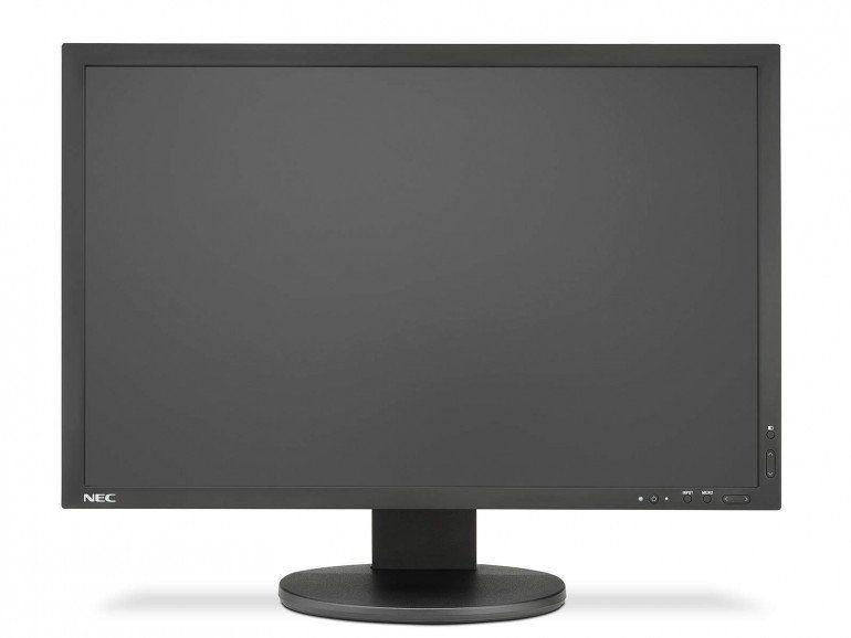 NEC_PA243W to niepozorny monitor, na tle najprostszych modeli wyróżnia się rozbudowanym panelem sterowania, umieszczonym z przodu ramki