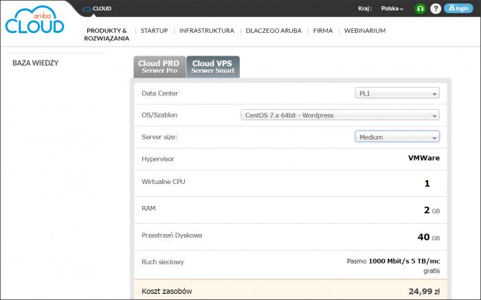 W usługach chmurowych sam decydujesz o zasobach serwera. Instancje Cloud PRO w Aruba Cloud odróżnia od chmurowych VPS-ów m.in. możliwość łączenia serwerów w ramach sieci prywatnej, godzinowy model rozliczenia oraz składowanie danych w pamięci masowej SAN