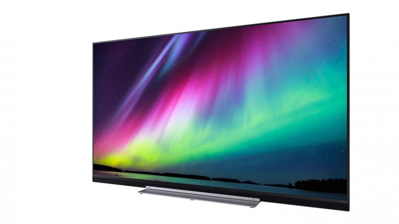 Rozszerzona dolna ramka telewizora Toshiba 55U7863DG kryje wysokiej klasy nagłośnienie sygnowane logo Onkyo