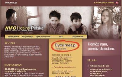 Jeśli natrafisz na stronę WWW z nielegalnymi treściami (pornografia dziecięca, treści rasistowskie), poinformuj organizację NIFC Hotline, korzystając ze strony www.dyzurnet.pl.