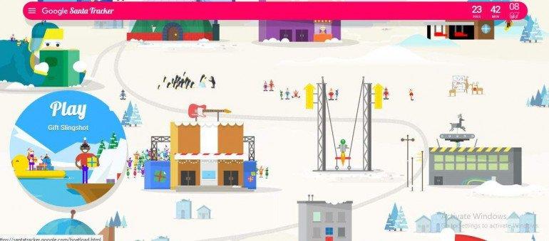 Trasa Świętego Mikołaja w Google