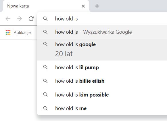 Teraz Omnibox w Google Chrome prezentuje odpowiedź bezpośrednio w wynikach wyszukiwania. Funkcja ta dość dobrze działa w języku angielskim.