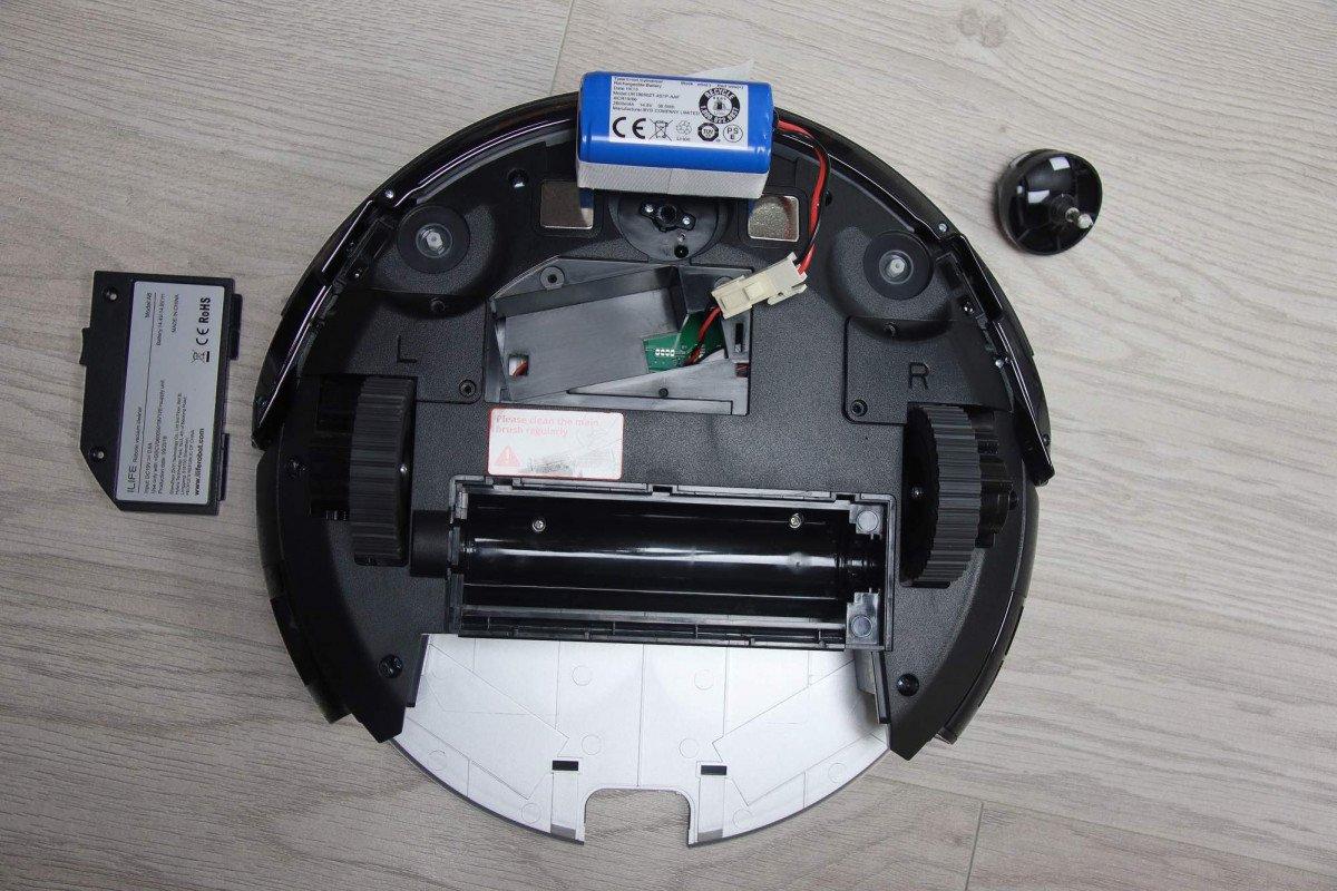 Wymiana akumulatora czy uzyskanie dostępu do napędu robota ILIFE A8 nie wymaga dodatkowej wiedzy technicznej oraz żadnych dodakowych narzędzi oprócz śrubokręta.