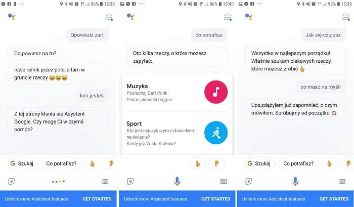 Przykłady interakcji z Asystentem Google