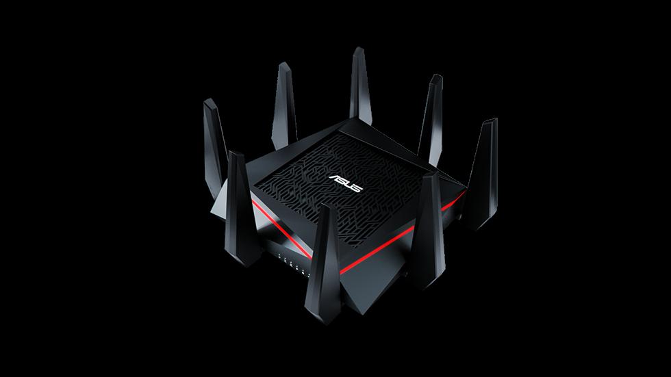 Gamingowe routery MU-MIMO wykorzystują zazwyczaj 4-8 anten. Na zdjęciu Asus RT-AC5300