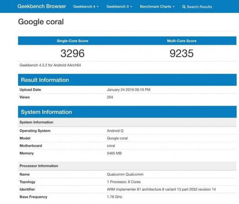Benchmark Google Coral