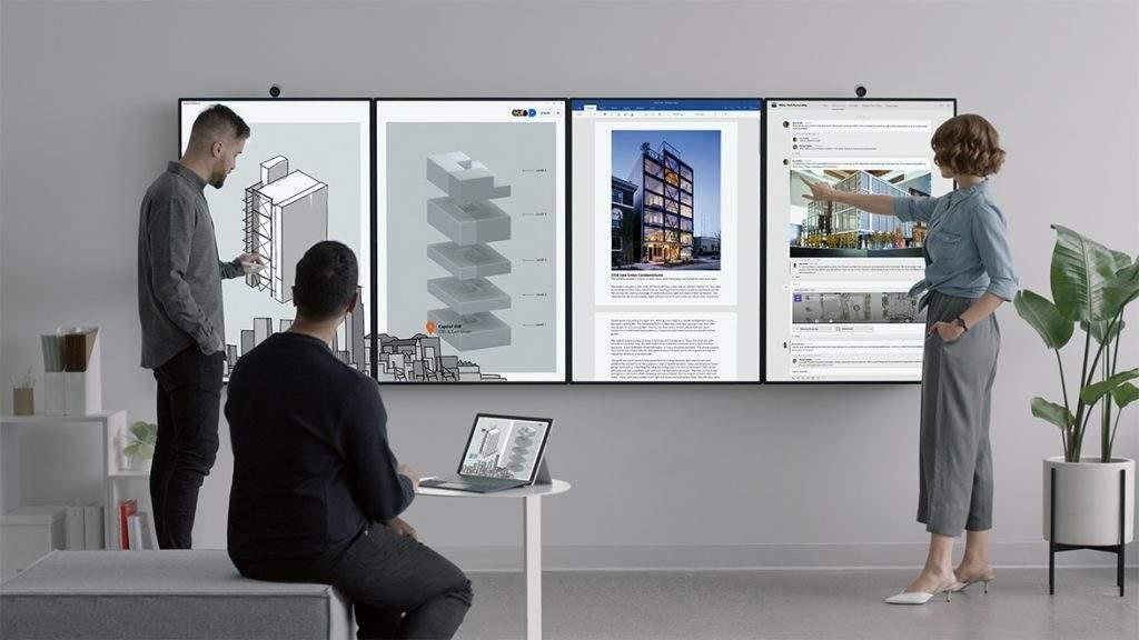 Microsoft Surface Hub to niekwestionowany lider w zakresie innowacyjności monitorów interaktywnych. Platforma może pracować w pełni autonomicznie.