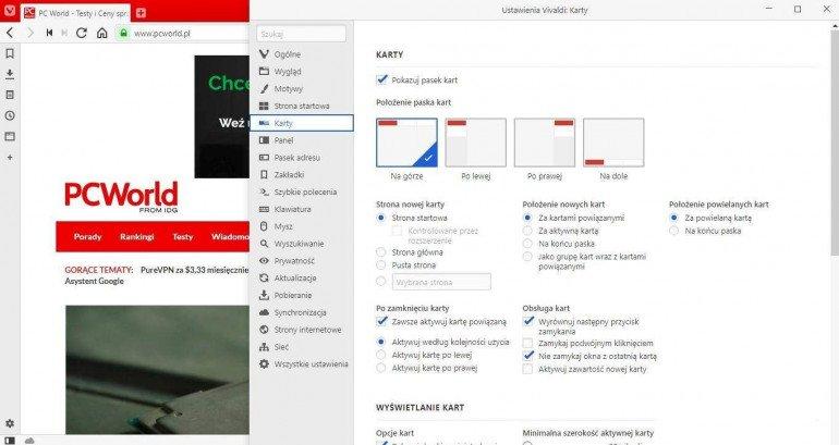 Vivaldi wprowadza automatyczne grupowanie kart, usprawnia pasek adresu i inne elementy przeglądarki