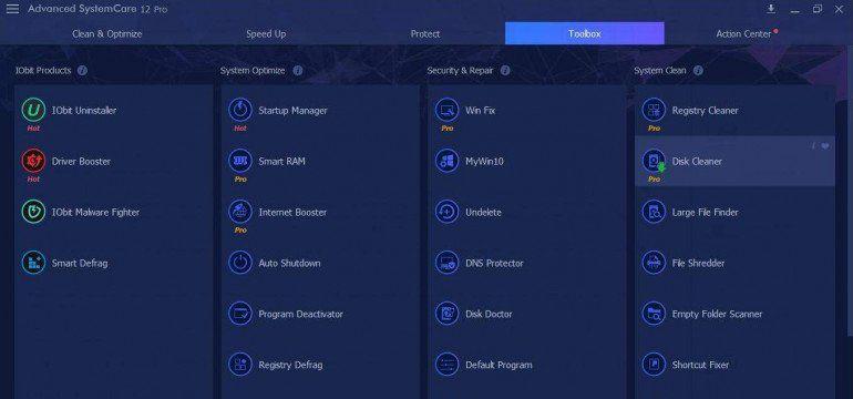 Advanced System Care 12 - aplikacja do oczyszczania systemu ze zbędnych plików