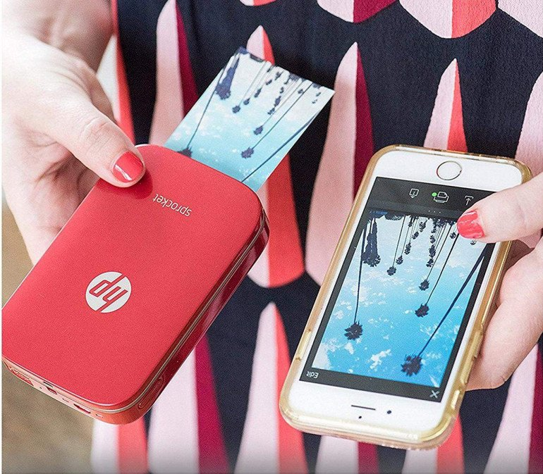 HP Sprocket Mobile Photo Printer Biała