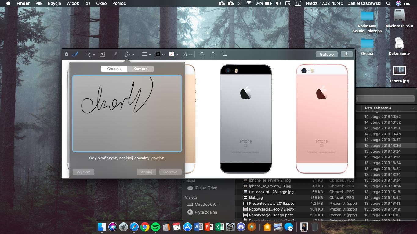 Tworzenie podpisu elektronicznego w aplikacji Podgląd
