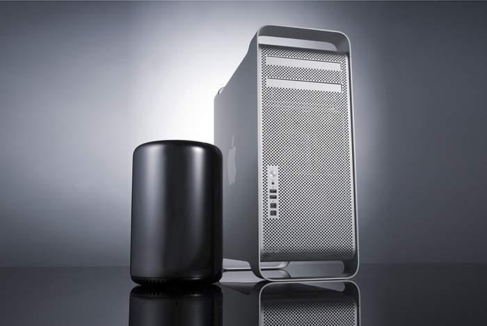 Nowy Mac Pro wraz z poprzednią generacją Źródło: Macworld