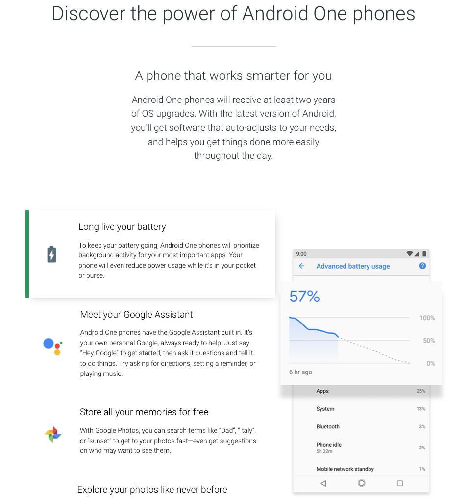 Witryna informacyjna Android One