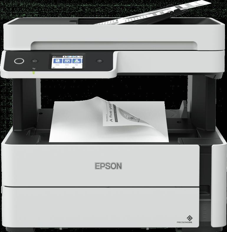 Nawet stosunkowo nieduża drukarka atramentowa może okazać sie tańsza w eksploatacji niż konstrukcje laserowe. Na zdjęciu Epson EcoTank M3140