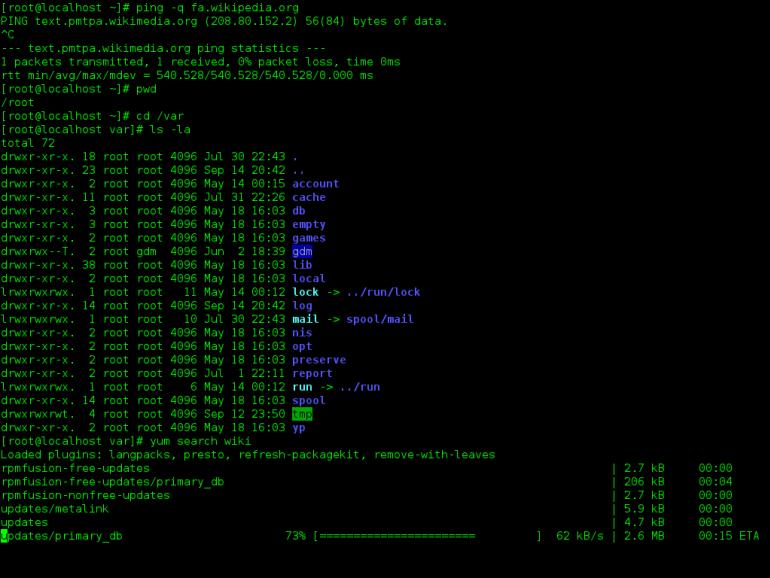 Interfejs CLI w systemie linux Źródło: wikipedia
