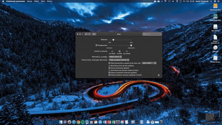 Jak ukryć ostatnie aplikacje z docka w macOS Mojave?