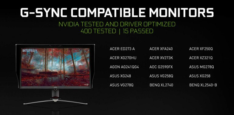 Nvidia prezentuje monitory G-SYNC Compatible