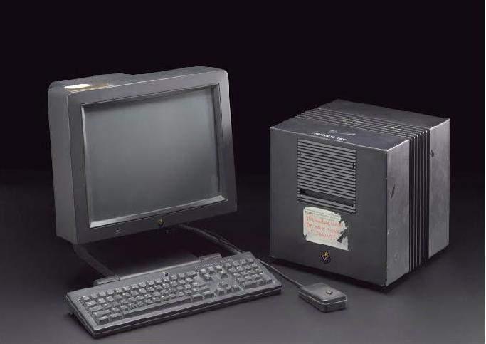 Komputer NeXT, na którym Tim Berners-Lee stworzył internet Źródło: Google Arts&Culture