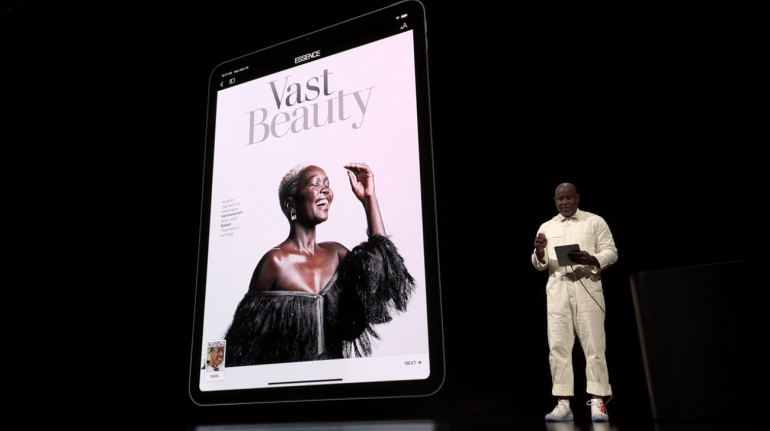 Apple News+ na iPad Pro