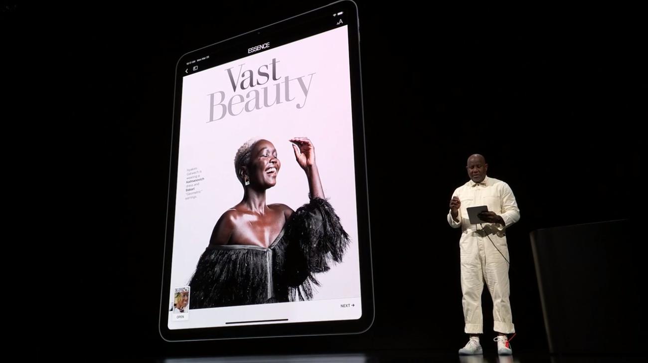 Apple News+ na iPad Pro