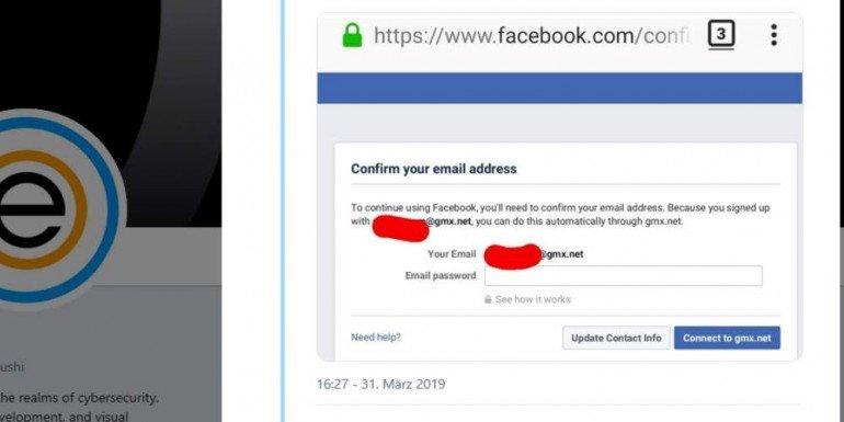 Facebook prosił o... hasło do konta e-mail