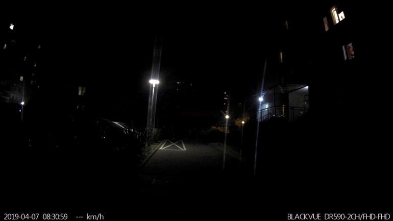 Zdjęcie nocne bez użycia noktowizora z przedniej kamery