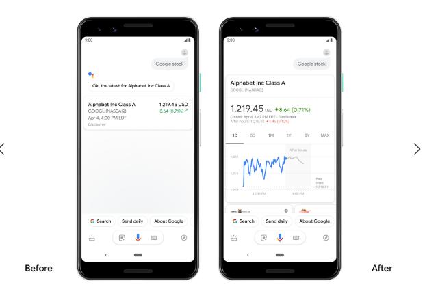 Nowe typy odpowiedzi w Asystencie Google