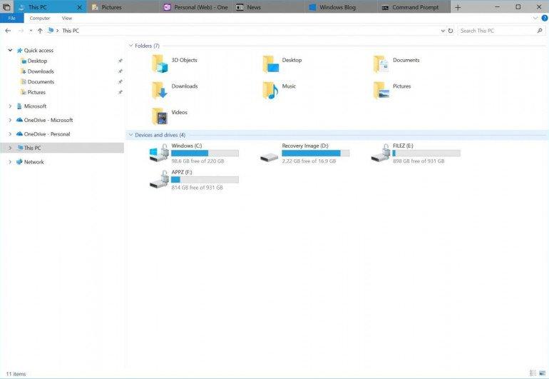 Windows: interfejsu z zakładkami nie będzie...