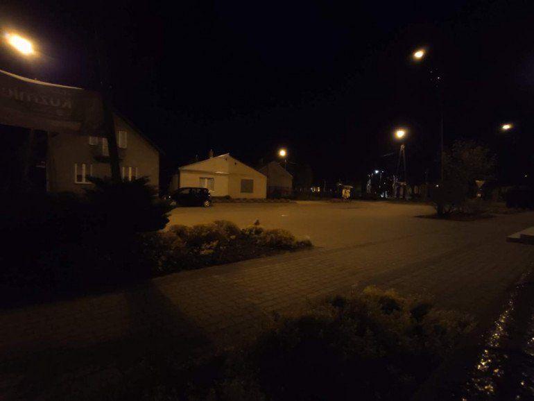 Ujęcie szerokokątne w nocy