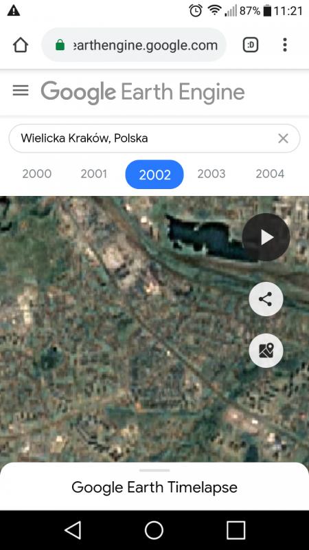 Google Earth Timelapse na smartfonach z Androidem