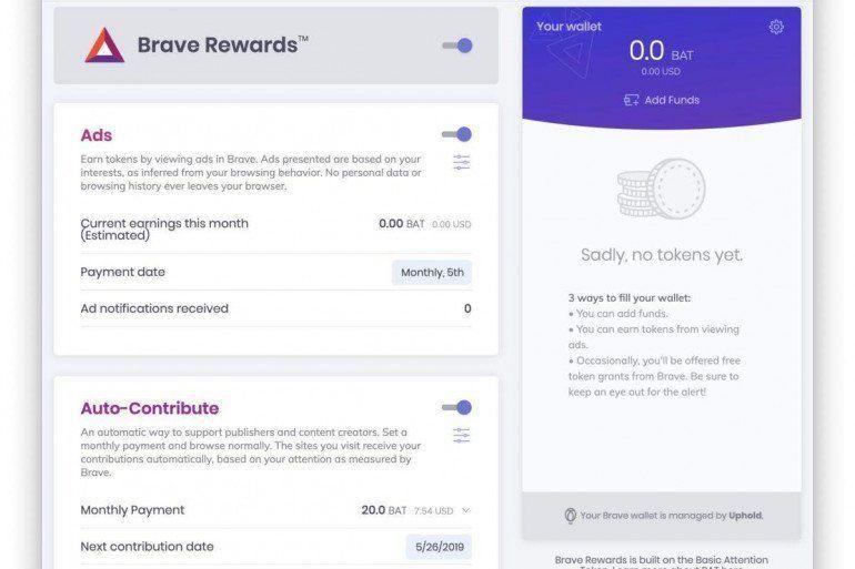 Brave - przeglądarka płacąca za oglądanie reklam