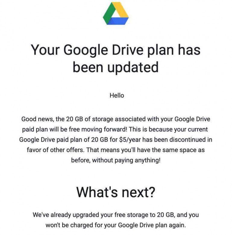 Google zwiększa ilość miejsca na Dysku, Samsung zmniejsza