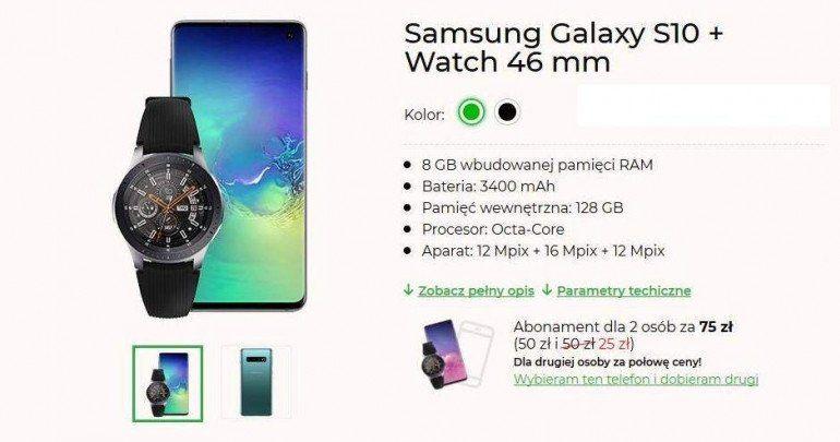Plus oferuje w abonamencie Galaxy S10 z Watch 46