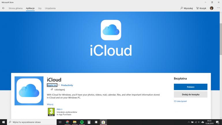 iCloud trafia do Windows Store i wykorzystuje technologię OneDrive