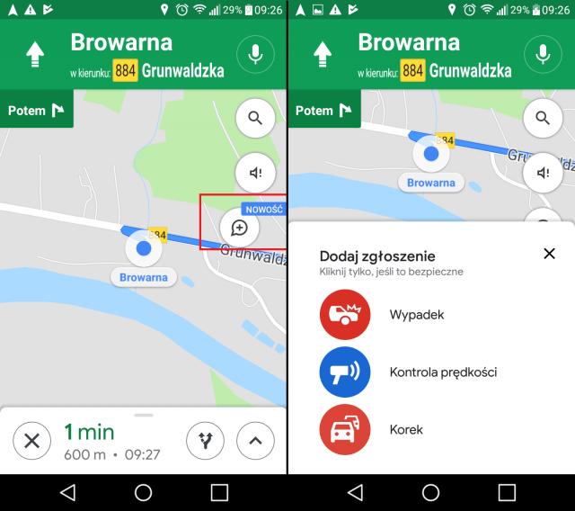 Mapy Google - darmowa nawigacja samochodowa