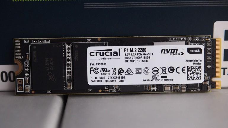 Crucial P1 – nośnik SSD z kośćmi 3D NAND QLC