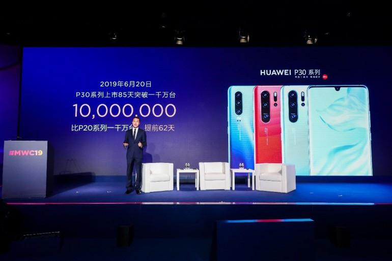 Huawei sprzedał ponad 10 milionów smartfonów z serii P30 w ciągu zaledwie 85 dni