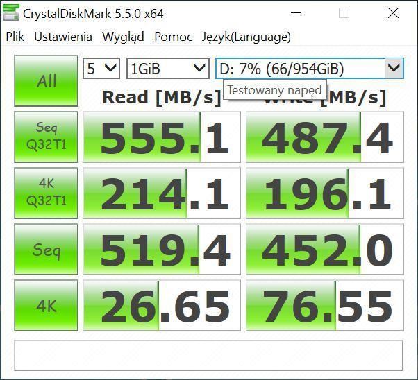 "PATRIOT P200 1TB - test popularnego SSD 2,5"""