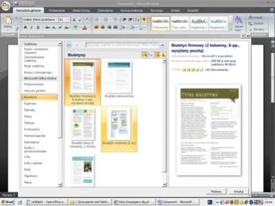 Nowy interfejs programu Microsoft Word 2007